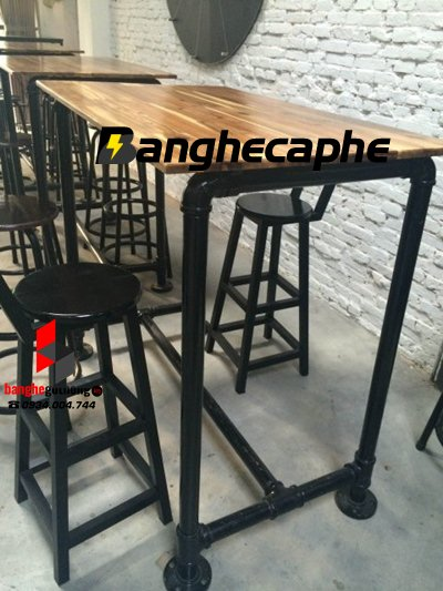 Xu hướng bàn ghế cafe chân sắt năm 2017