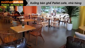 Bàn ghế quán cà phê cao cấp bằng gỗ