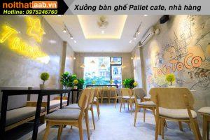 Ban ghe cafe go