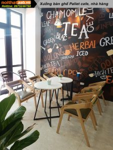 bàn ghế quán cafe bằng gỗ đẹp
