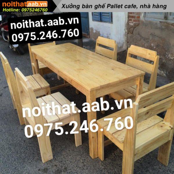 Bàn ghế gỗ thông kiểu dáng đẹp