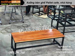 ghế băng dài chân sắt không tựa